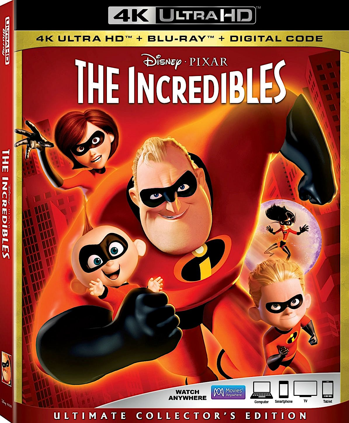 THE INCREDIBLES ULTIMATE COLLECTOR'S EDITION 4K BLURAY