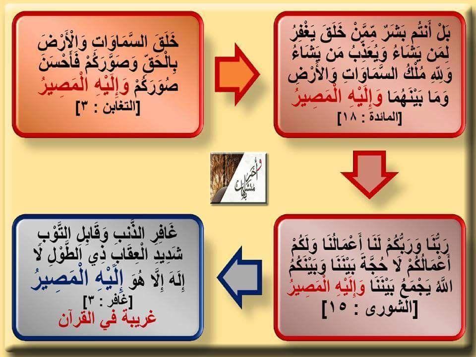 و إ ل ى الل ه ال م ص ير ٣ مرات فى القرآن وإليه المصير ٣ مرات فى القرآن إليه المصير غريبة فى غافر إلى المصير Home Decor Novelty Sign Decor