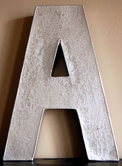Hammered Metal Letters Rustoleum's Hammered Metal Spray Paint In Silverjust Painted A
