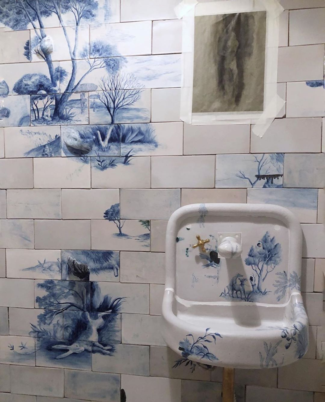 Hand Painted Tile Bathroom Of Dreams By