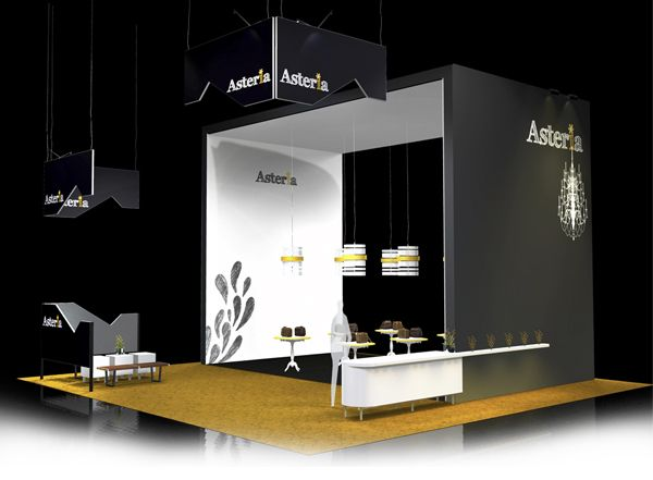 Modern Exhibition Stall Design : Two side open booth design simple exhibit trade show booth
