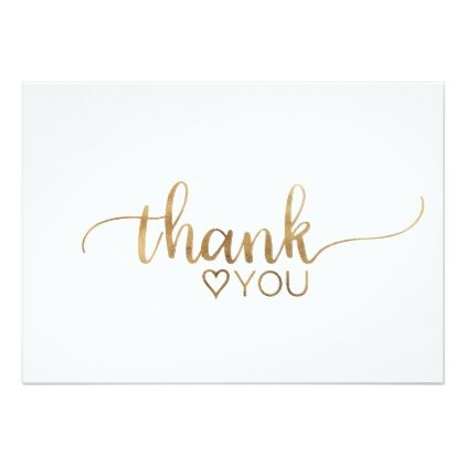 Simple Gold Calligraphy Thank You Card Zazzle Com Calligraphy Thank You Calligraphy Cards Thank You Typography