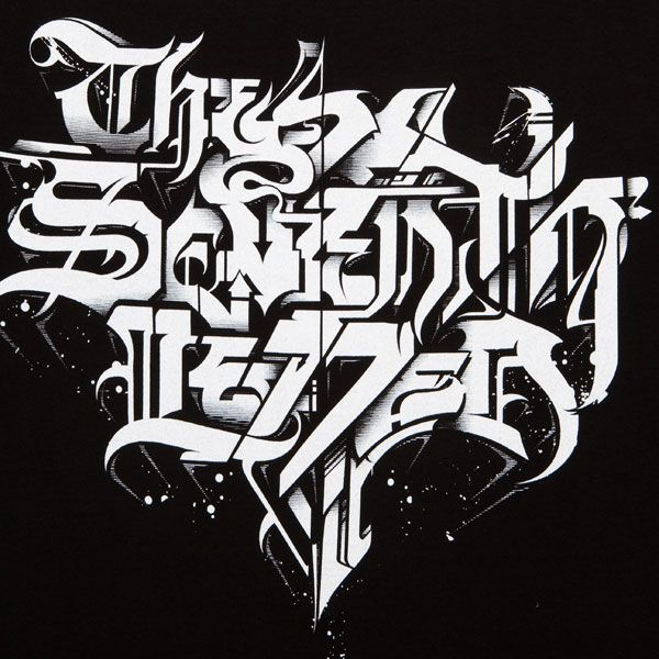 Black Sketch Graffiti Letters SeventhLetter