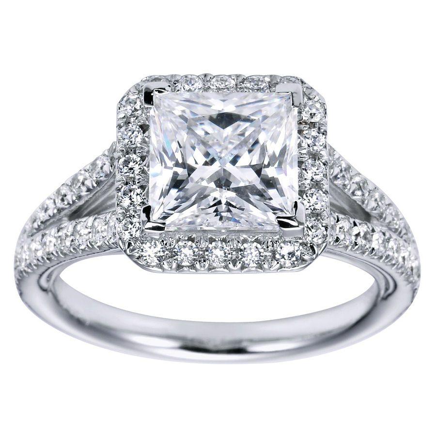 princess cut halo diamond engagement ring 10 pictures photos images - Princess Cut Diamond Wedding Rings
