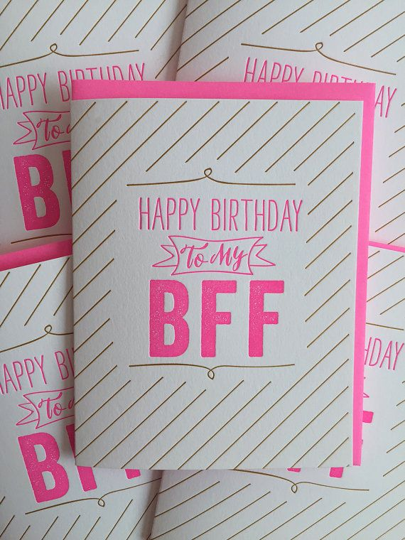 Best Friends Best Friend Card Bff Birthday Card Best Friend