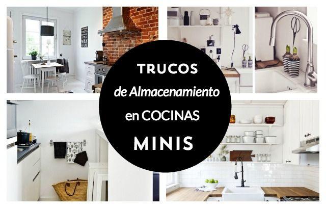 Trucos De Almacenamiento En Cocinas Minis For The Home Pinterest - Almacenaje-cocina