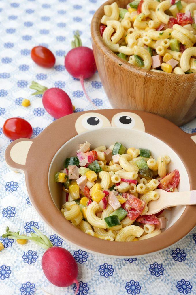 Der beste Nudelsalat für Kinder (mit schneller Milch-Mayonnaise)