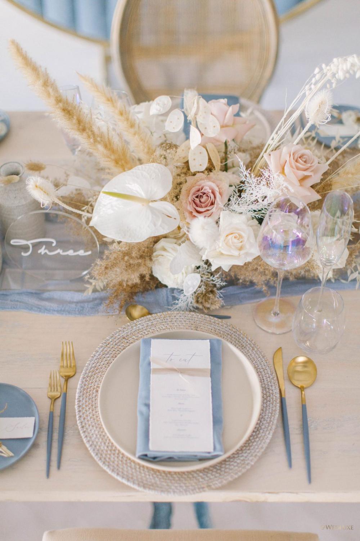 Winter Solstice - WedLuxe Magazine  #bohochic #weddinginspo #reception #tablesetting
