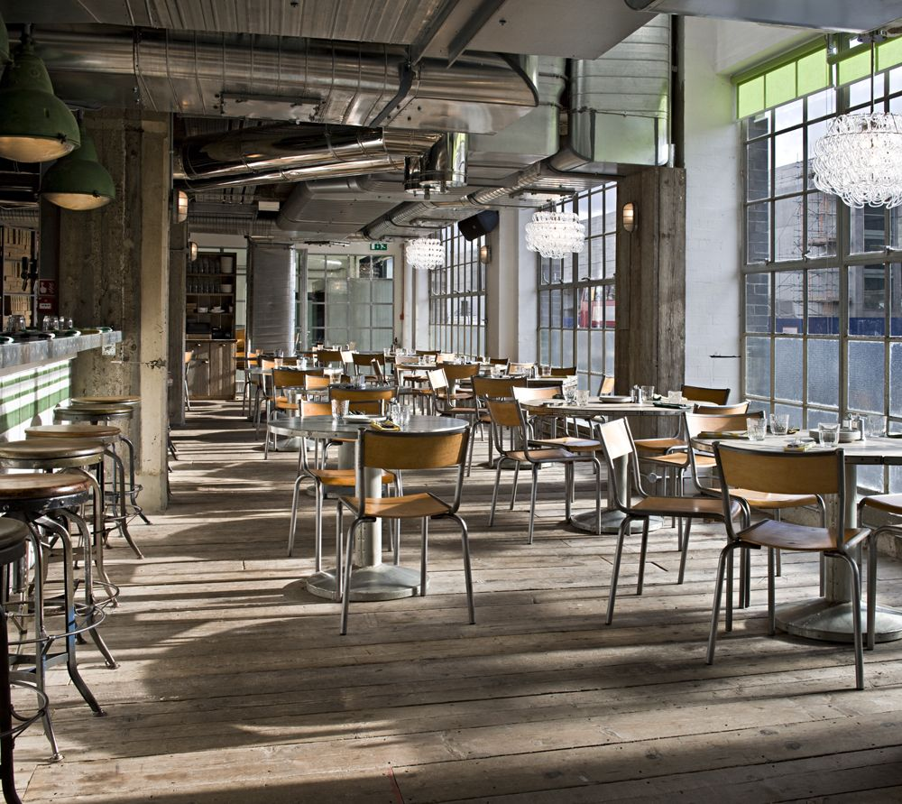 Industrial Cafe Breakfast French Industrial Decor
