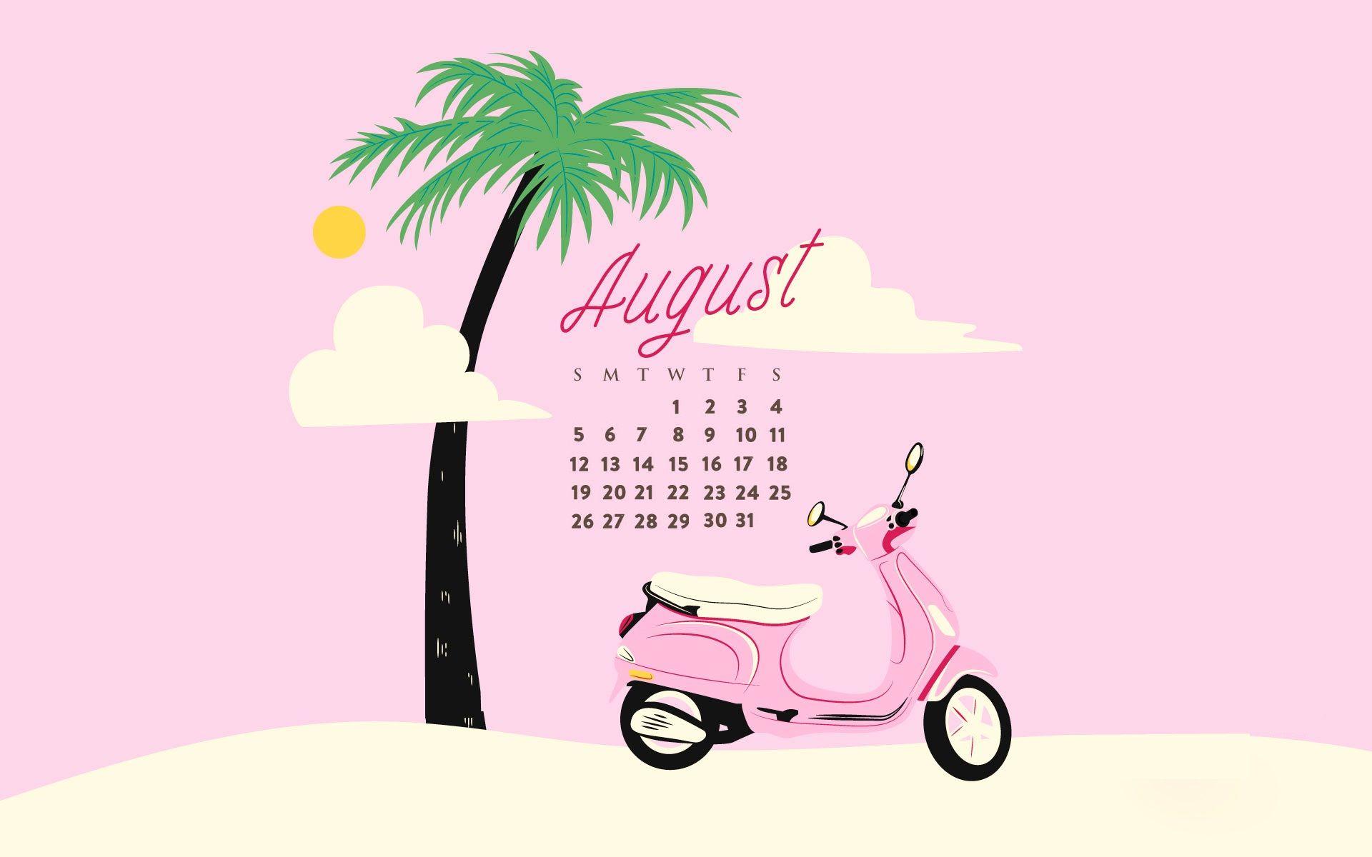 August 2018 Calendar Wallpapers Achtergronden Laptop Achtergrond Laptop