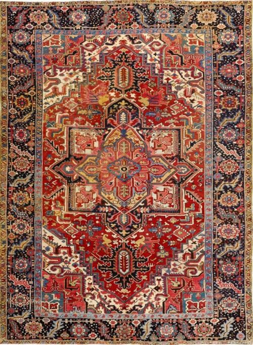 Navy Blue Antique Persian Carpet Rugs Fireplace Rugs