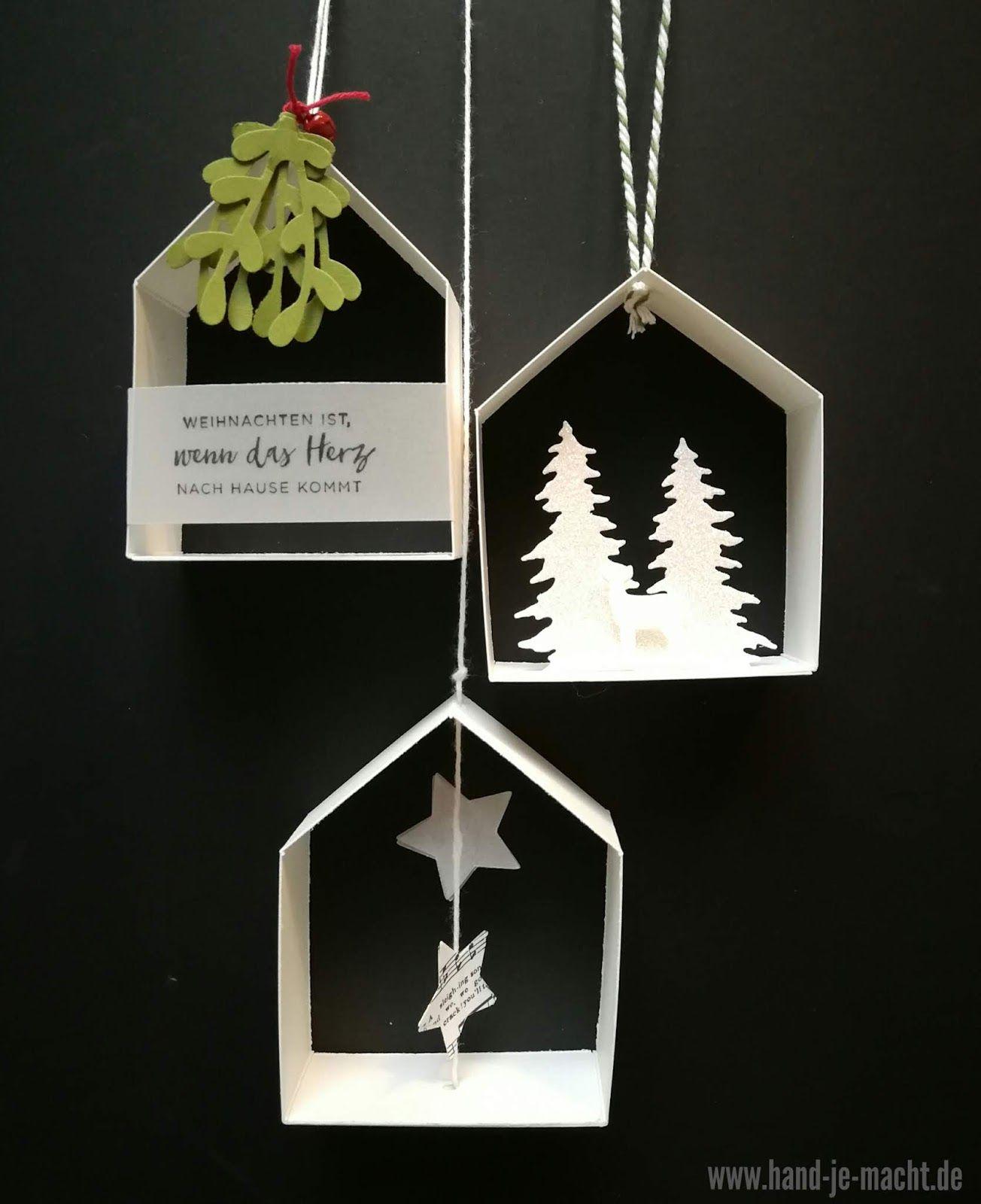 h uschen anh nger karten bastelideen weihnachten deko. Black Bedroom Furniture Sets. Home Design Ideas