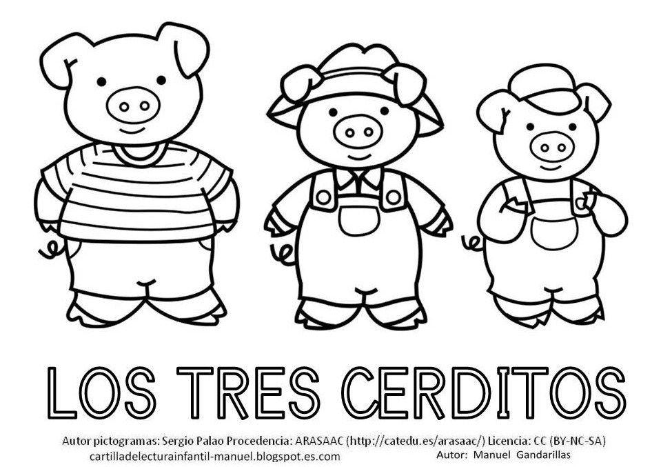 Cartilla De Lectura Infantil C E R D O Los Tres Cerditos Cerditos Los Tres Cerditos Te Para Tres