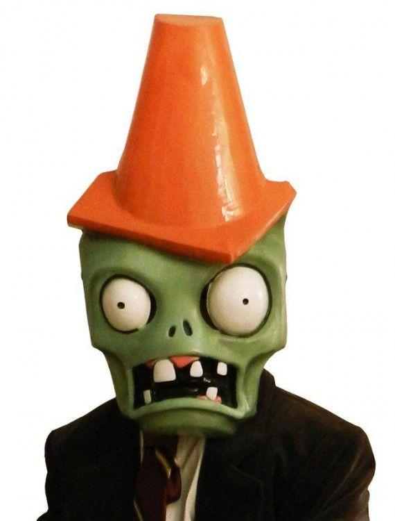 fb9eba55038 Plants vs. Zombies Cone Head Zombie Plastic Mask 24.99   Plants vs. Zombies  Cone Head Zombie Plastic Mask