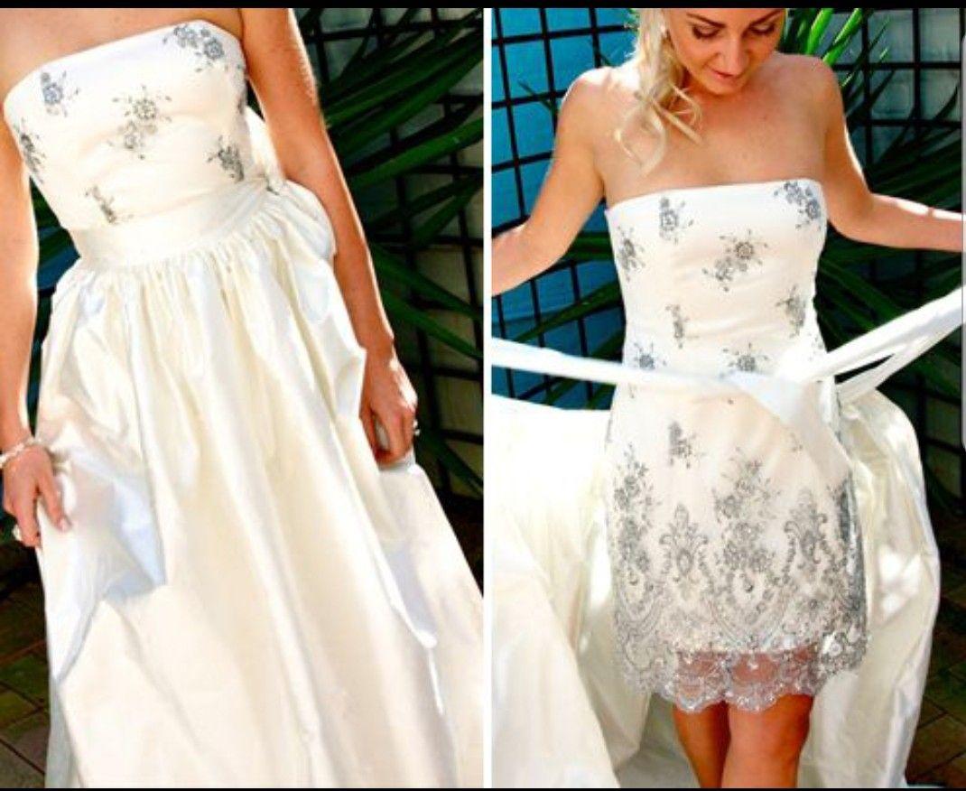 Convertible Dress Idea Convertible Wedding Dresses Wedding Dresses Diy Wedding Dress [ 876 x 1070 Pixel ]