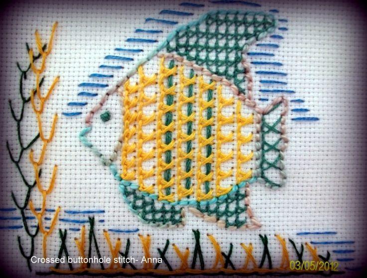 TAST 2012- Crossed buttonhole stitch - stitchin fingers