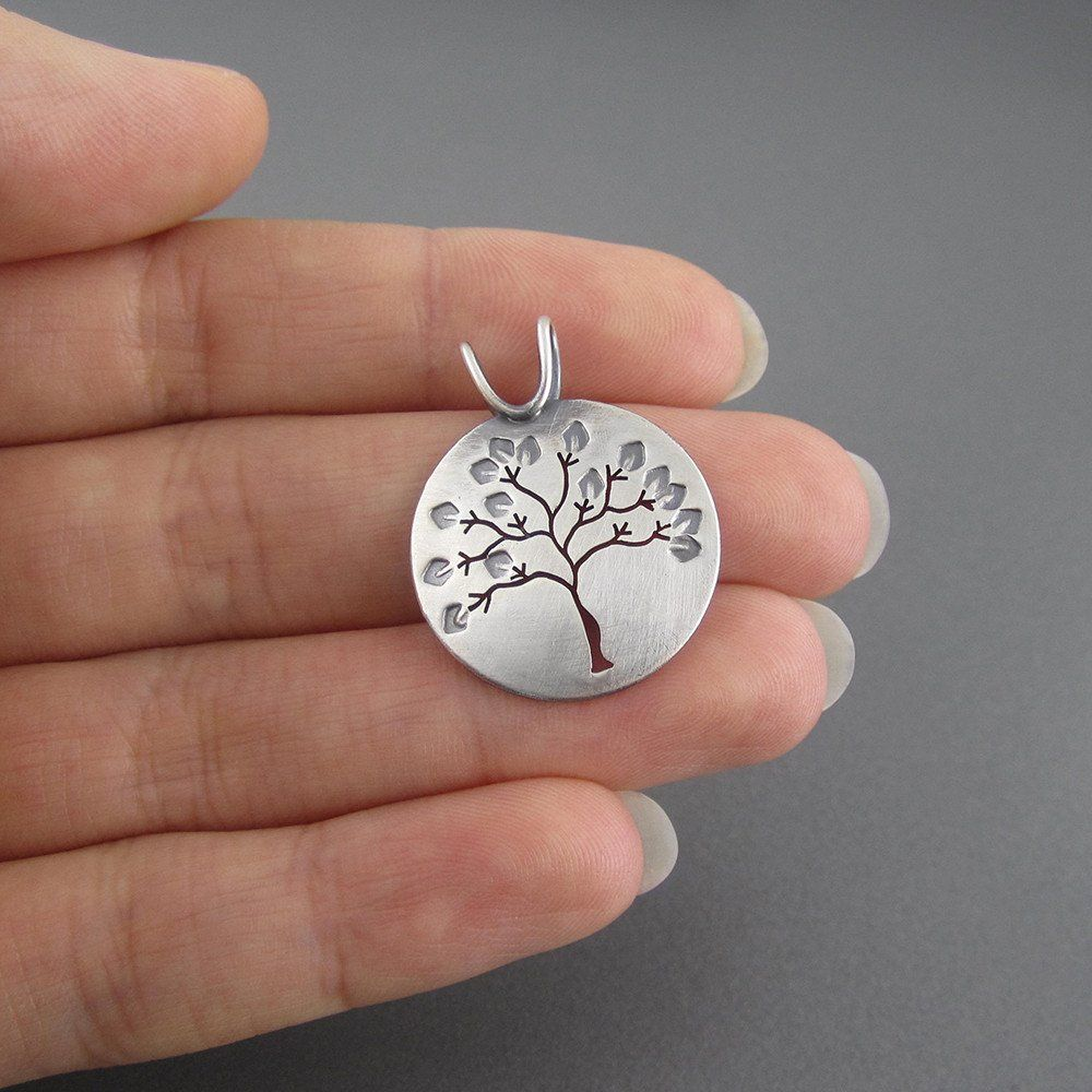 Summer in Michigan Sterling Silver Tree Pendant - Beth Millner Jewelry - 5