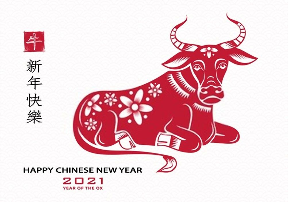 Year Of The Ox 2021 Images And Wallpaper Year Of The Cow Chinese New Year Images Happy Chinese New Year