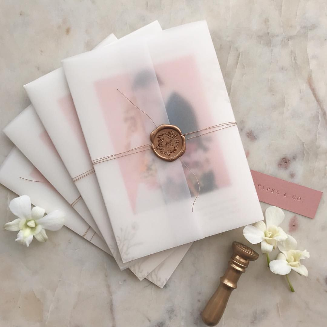 Dreamy Wedding announcements with translucent paper, paper twine and wax seals Wedding weddinginvitation weddingplanning weddingstationery weddinginvitationcards weddinginvitationcalligraphy in is part of Wedding invitations -