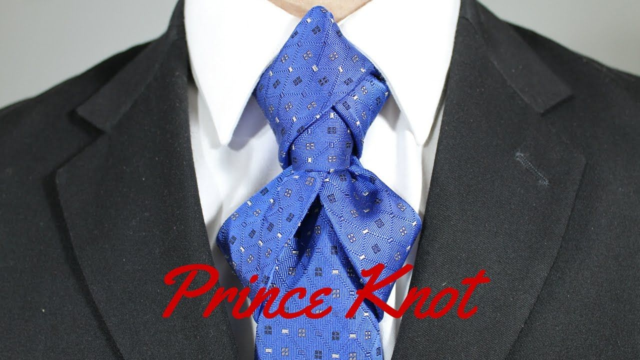How To Tie A Tie Prince Knot Tie Knots Neck Tie Knots Eldredge Knot