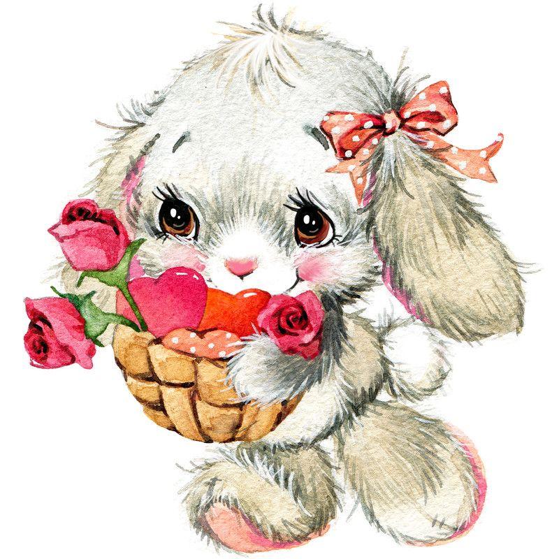 Смешные, открытка с добрым утром зайчонок