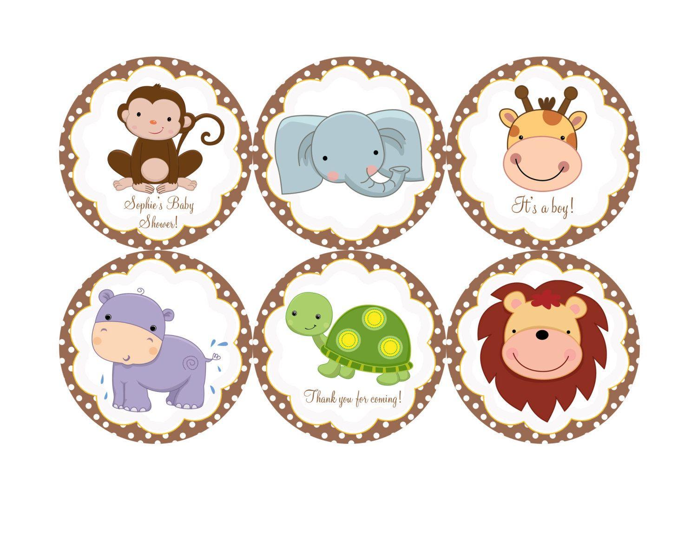 Safari Baby Shower Clipart .