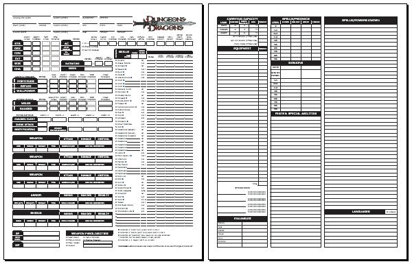 Blackmoor S D D 3 0 Character Sheet Standard 1 05 Character Sheet Dnd Character Sheet Pathfinder Character Sheet