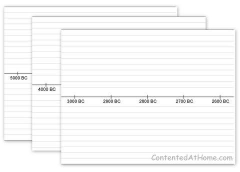 Free Printable Timeline Notebook Pages  Timeline Free Printable