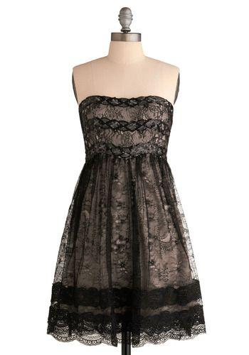 Ultra sweet & pretty version of a little black dress.