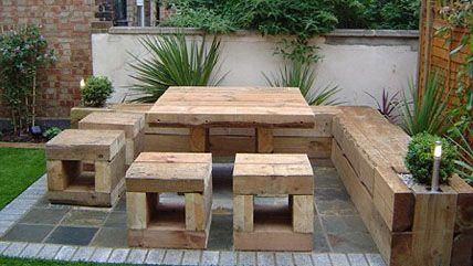 Garden Sofa Gr Bench Table Wooden Seats Diy