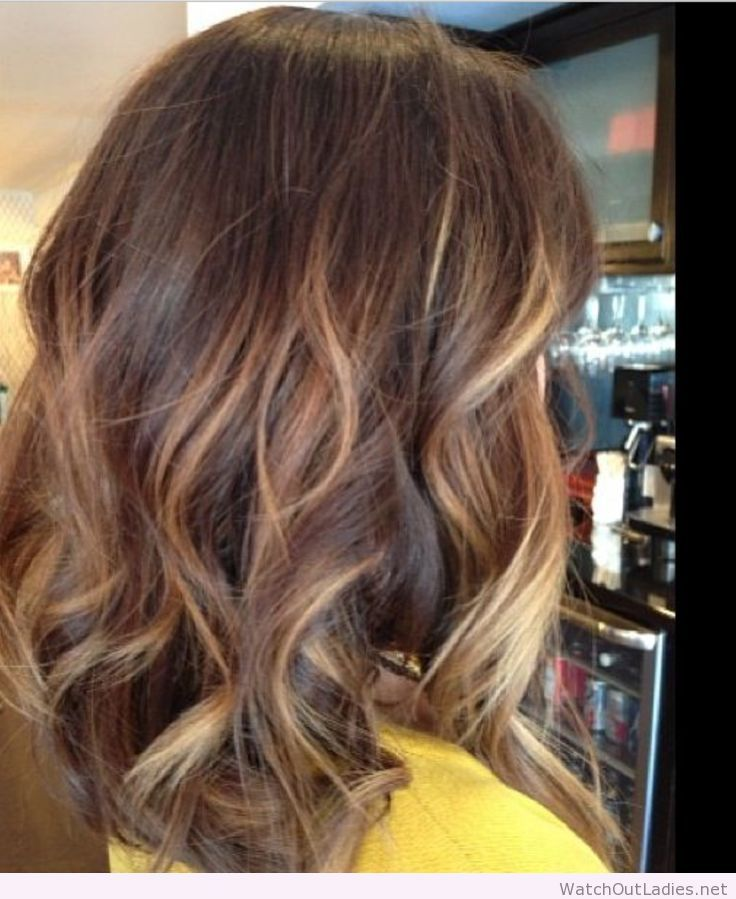 Perfect Medium Length With Caramel Colored Highlights