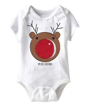 Jiminy Christmas.Another Great Find On Zulily White Rudolph Bodysuit
