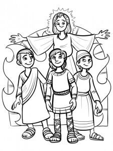 Shadrach Meshach And Abednego Coloring Sheet Sunday School Kids