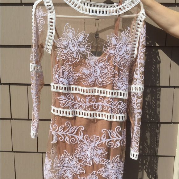 568a2ee59c74 For Love and Lemons Desert Nights Mini Dress Brand new with tags, white and  nude