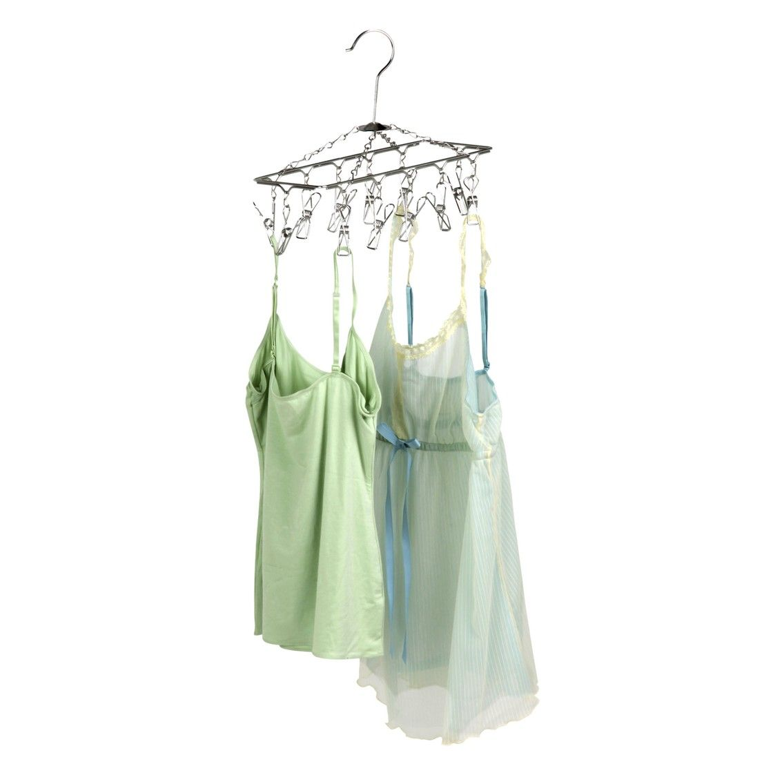 Honeycando hanging drying rack with clips could be used to