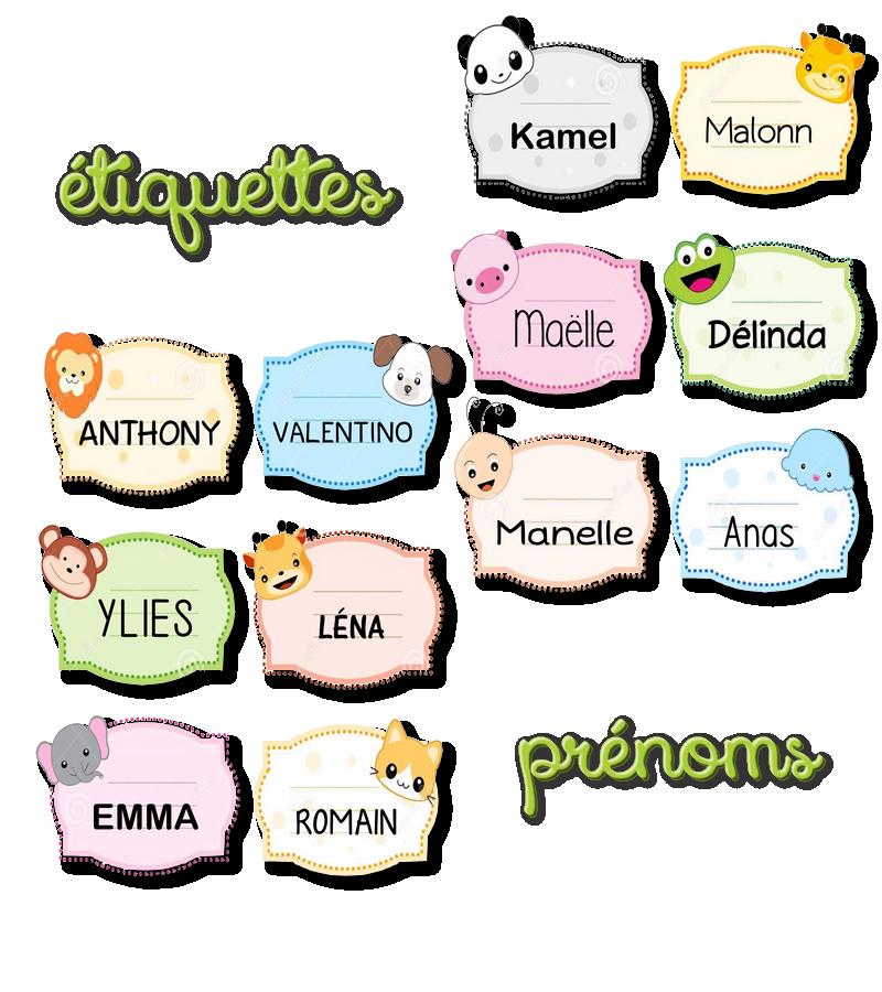 La maternelle de laur ne tiquettes pr noms animaux - Etiquette prenom a imprimer ...