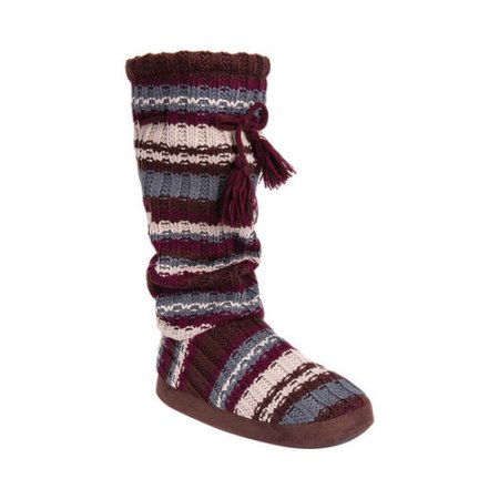 Women's MUK LUKS Gloria Knit ... Tall Boot Slippers M3dsqR