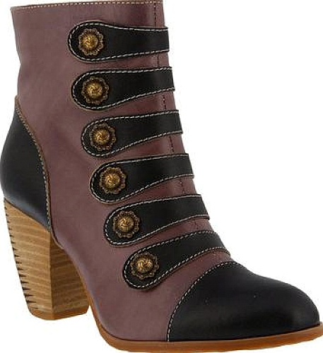 6fa3b69b67 Check out the L'Artiste by Spring Step Lovech Ankle Boots. Contemporary boots  by the brand L'Artiste by Spring Step pictured in Black Leather. Look  radiant ...
