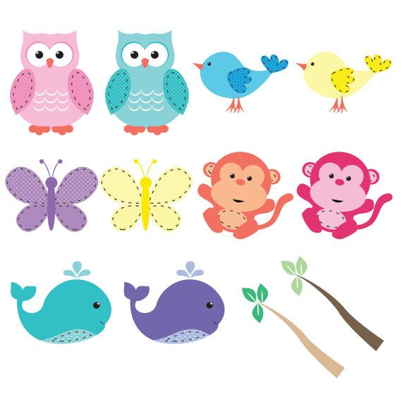Spring Baby Animals Clipart For Digital Scrapbooking Etsy Baby Clip Art Animal Clipart Clip Art