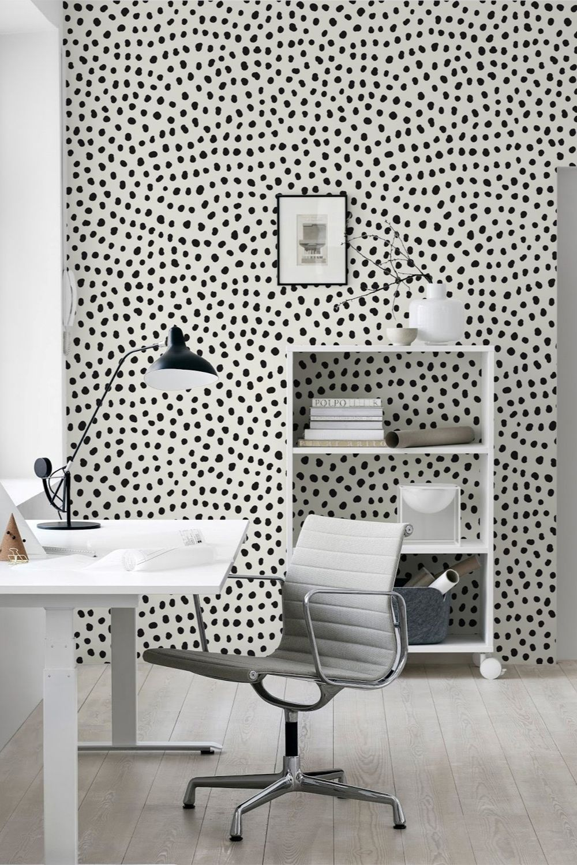 Dalmatian Spots Wallpaper Dots Wallpaper Dots Wallmural Etsy In 2021 Moderne Wand Tapeten Wanddekoration