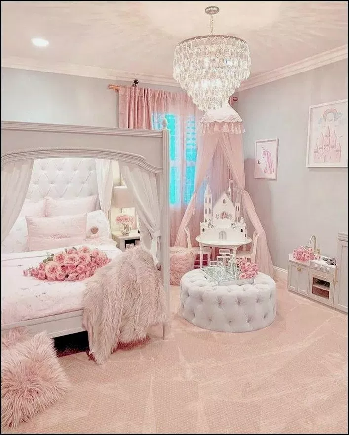 40 How To Decorate Your Teenagers Bedroom On A Budget Roomideas Roomdecor Teenagersbedroom Home Pink Bedroom For Girls Pink Bedroom Design Girly Bedroom