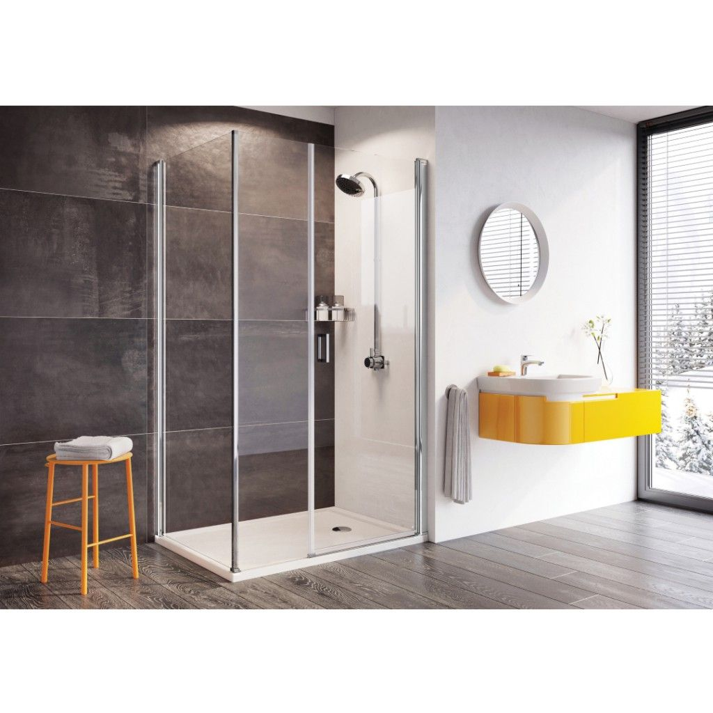 Roman Showers Innov8 Pivot Door With In Line Panel Shower Enclosure