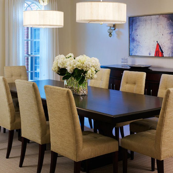 Centerpiece Idea Tone On Dining Room