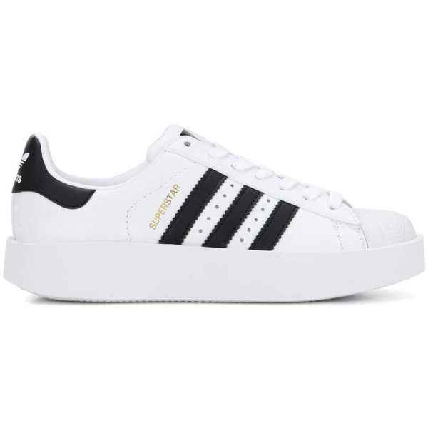 Adidas Originals Superstar Bold Leather Sneakers (357.150 COP) ❤ liked on Polyvore featuring shoes, sneakers, leather shoes, adidas originals sneakers, adidas originals shoes, genuine leather shoes and leather sneakers