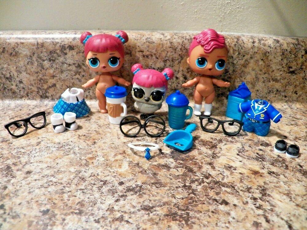Lol Surprise Doll Boys Series 1 Smarty Pants Teachers Pet Owl Family Set Lot 3 Mga Lol Dolls Baby Doll Furniture Cute Toys