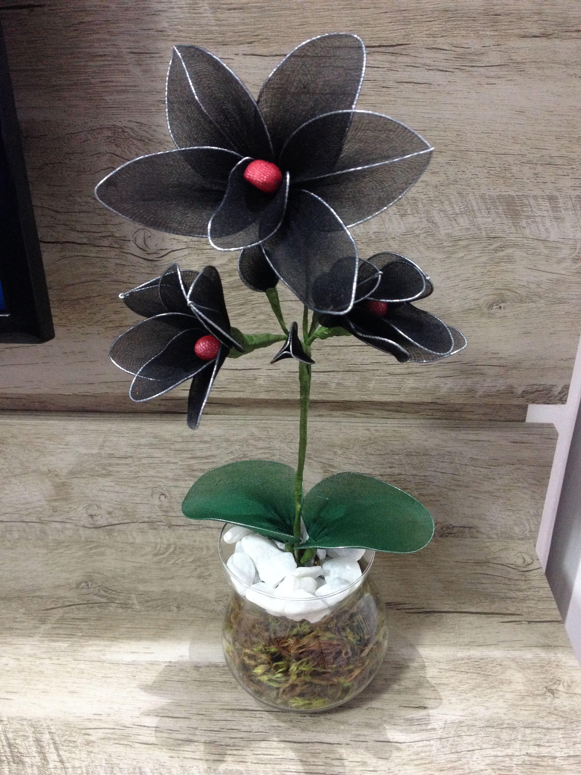 Orquidea negra CVIJEĆE OD NAJLONKI