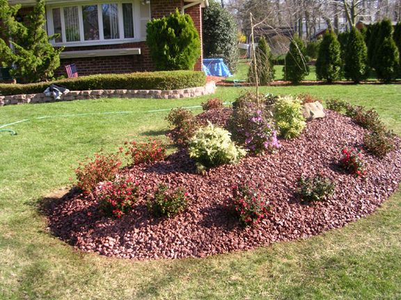 Kidney Shaped Garden Plans And Layouts Landscape Planting Design Of Raised Burgandy Stone Backyard Landscaping Designs Backyard Landscaping Landscape Design