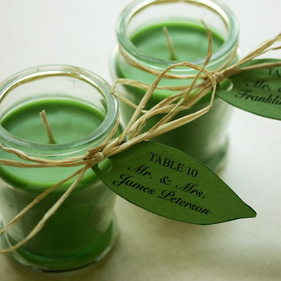 escort card ideas #11 candles (by willow glen stationery via emmaline bride)