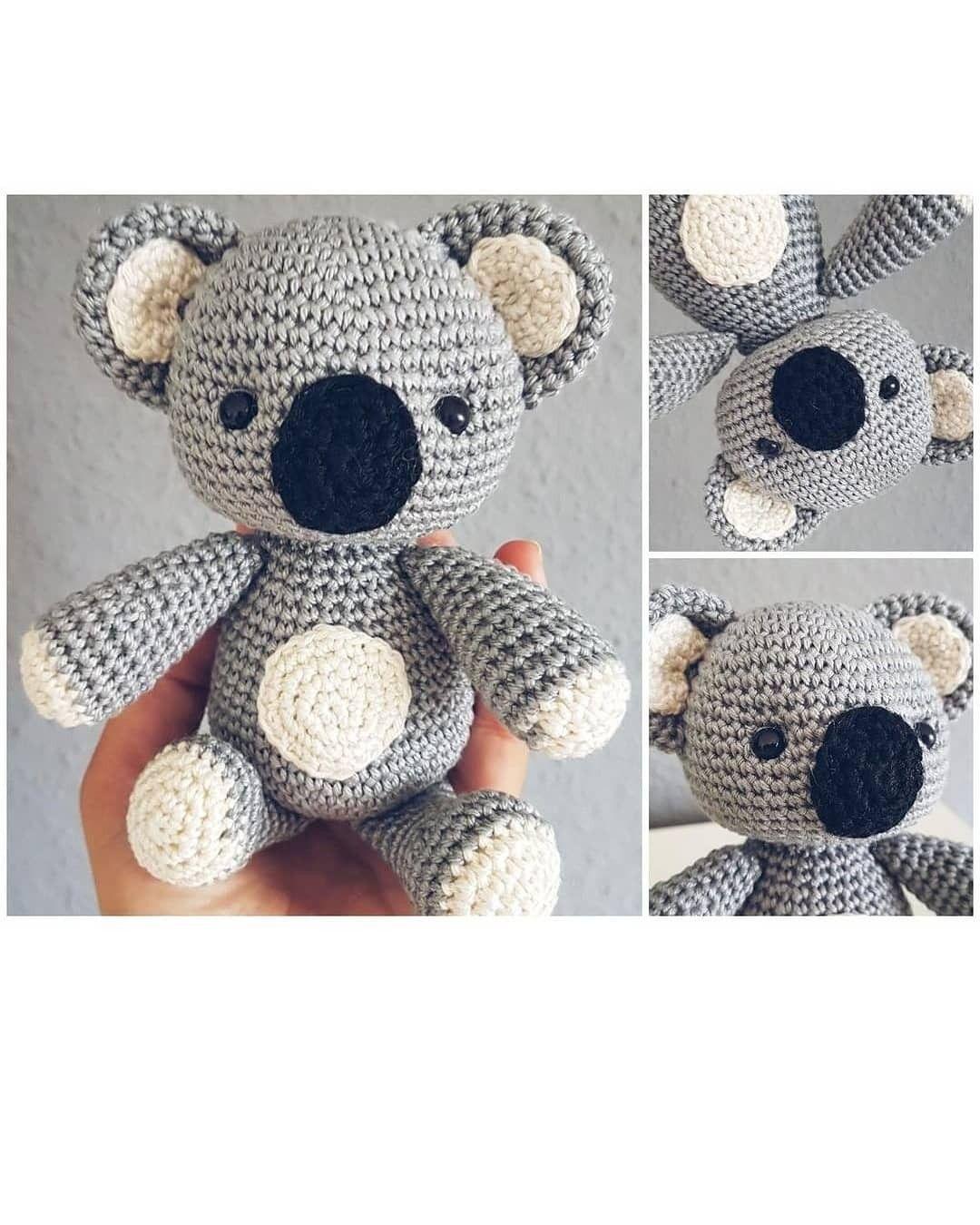 Cute Koala amigurumi crochet pattern PDF | Crochet patterns ... | 1350x1080