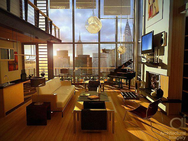 Contemporary Manhattan Loft Living Day I Love It Apartment View Manhattan Apartment Interior House Design